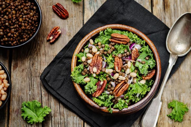 Salada de Cuscuz Marroquino com lentilha