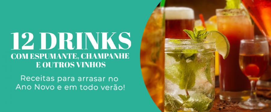 12 drinks com espumante, champanhe e outros vinhos