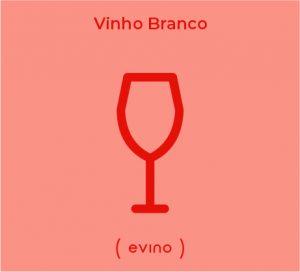 Ilustração de uma taça para vinho branco