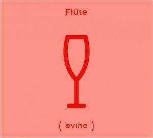 Ilustração da taça flute para espumante