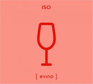Ilustração de uma taça tipo ISO