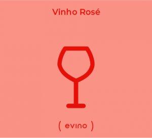 Ilustração de uma taça para vinho rosé