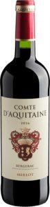 Garrafa de vinho Comte d'Aquitaine